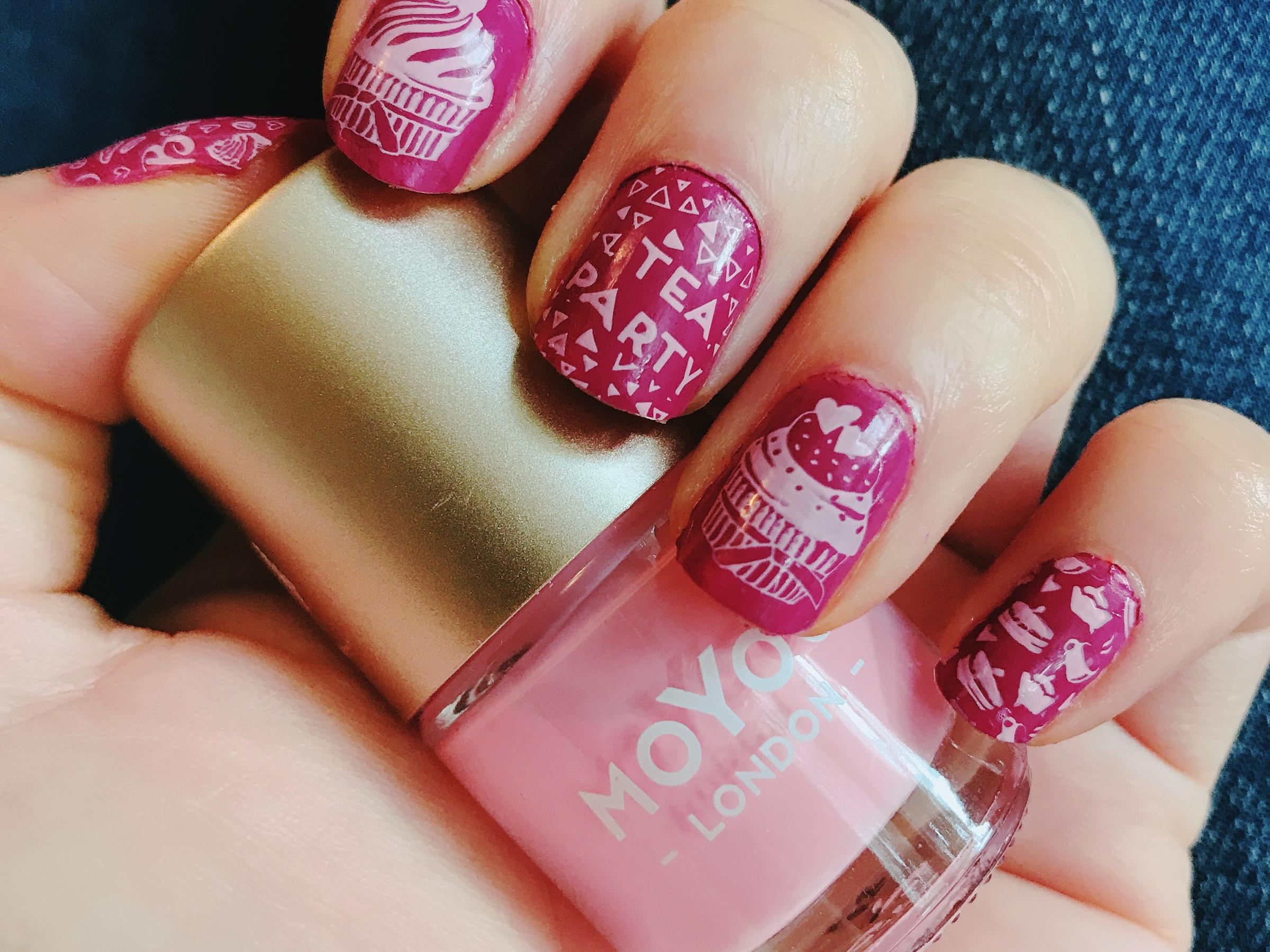 Pink Base Nail Art