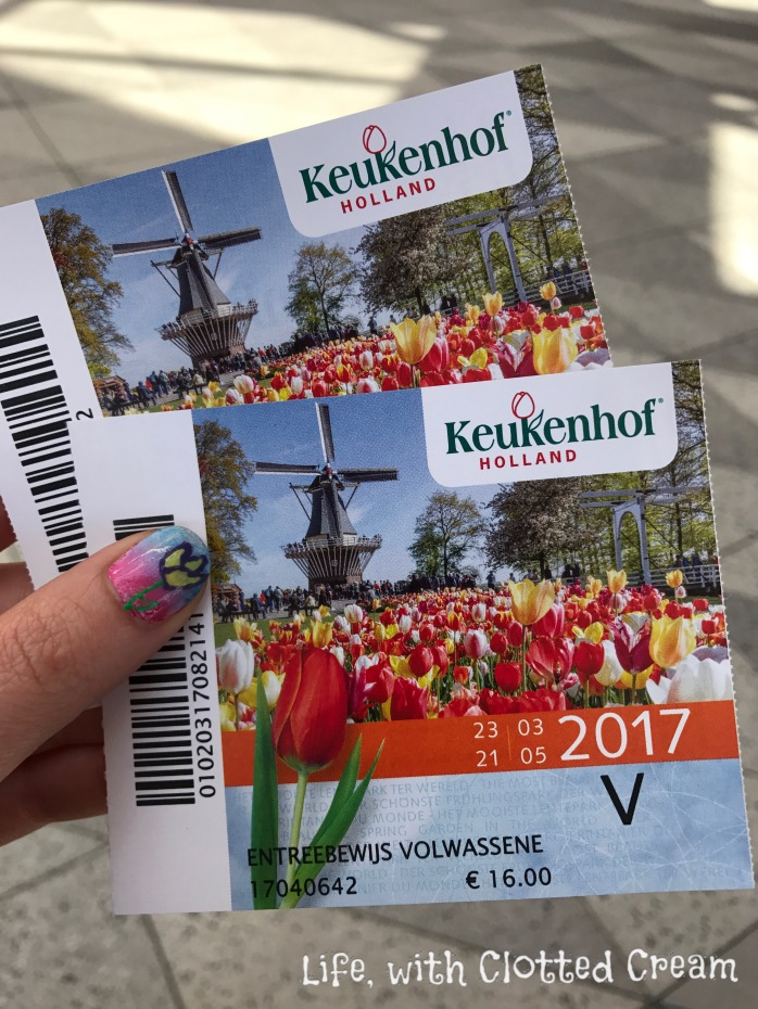 Our tickets for entry into Keukenhof, Holland, The Netherlands