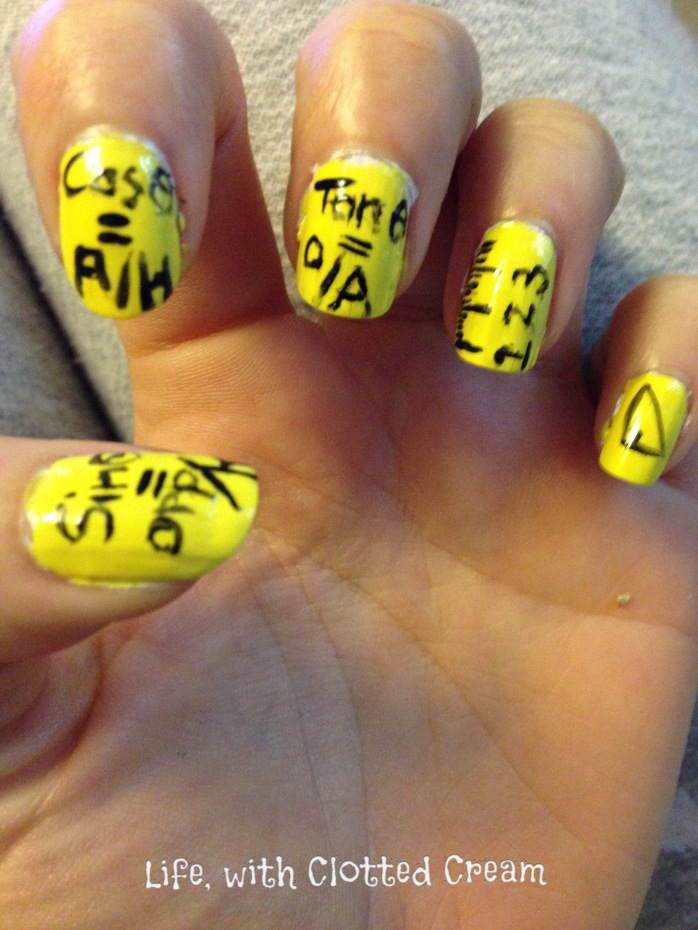 Maths Nail art