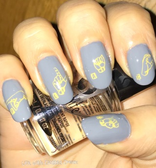 Sign language Nail art for Quiet Place Movie