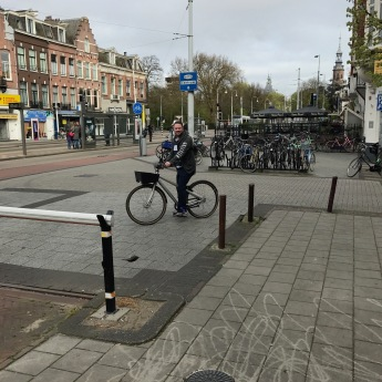 Hubby on a bike