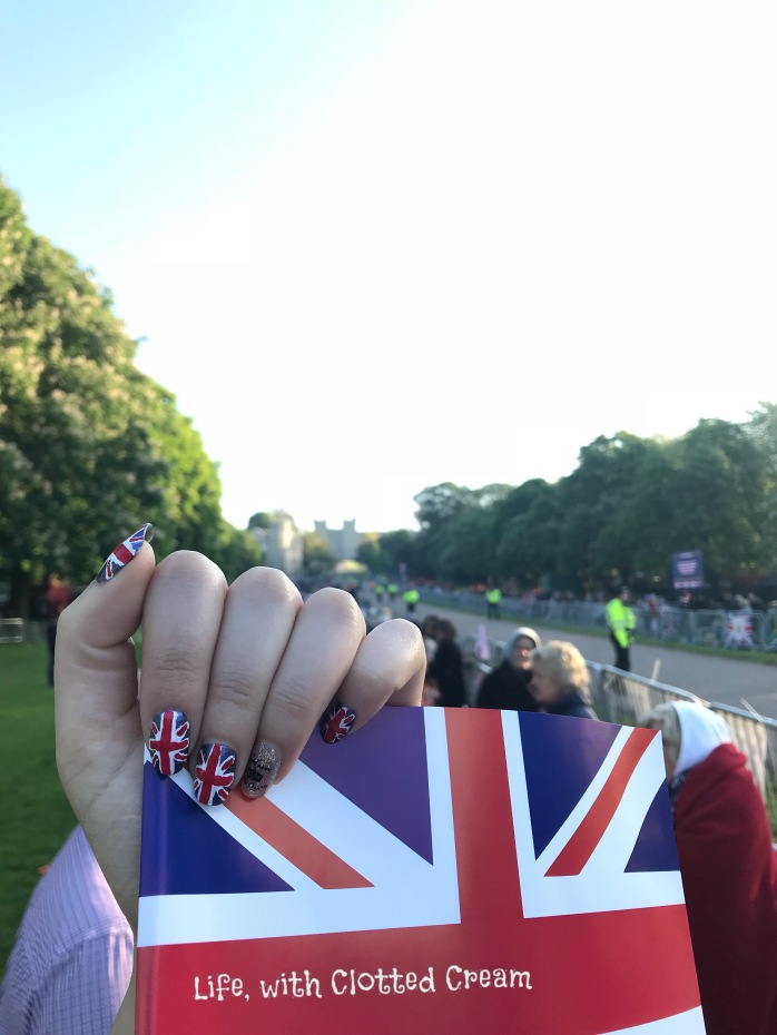 Royal Wedding Nail art on the Long Walk