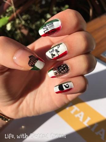 Italian Inspired Nail art