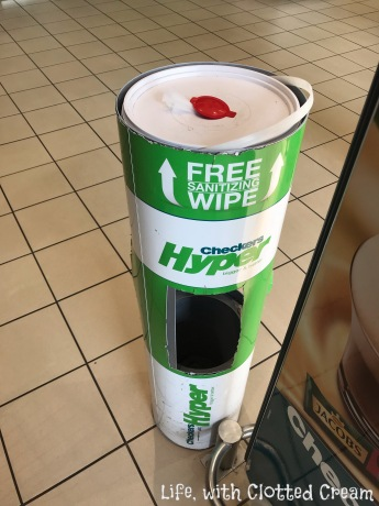 Wet wipes for trolleys!