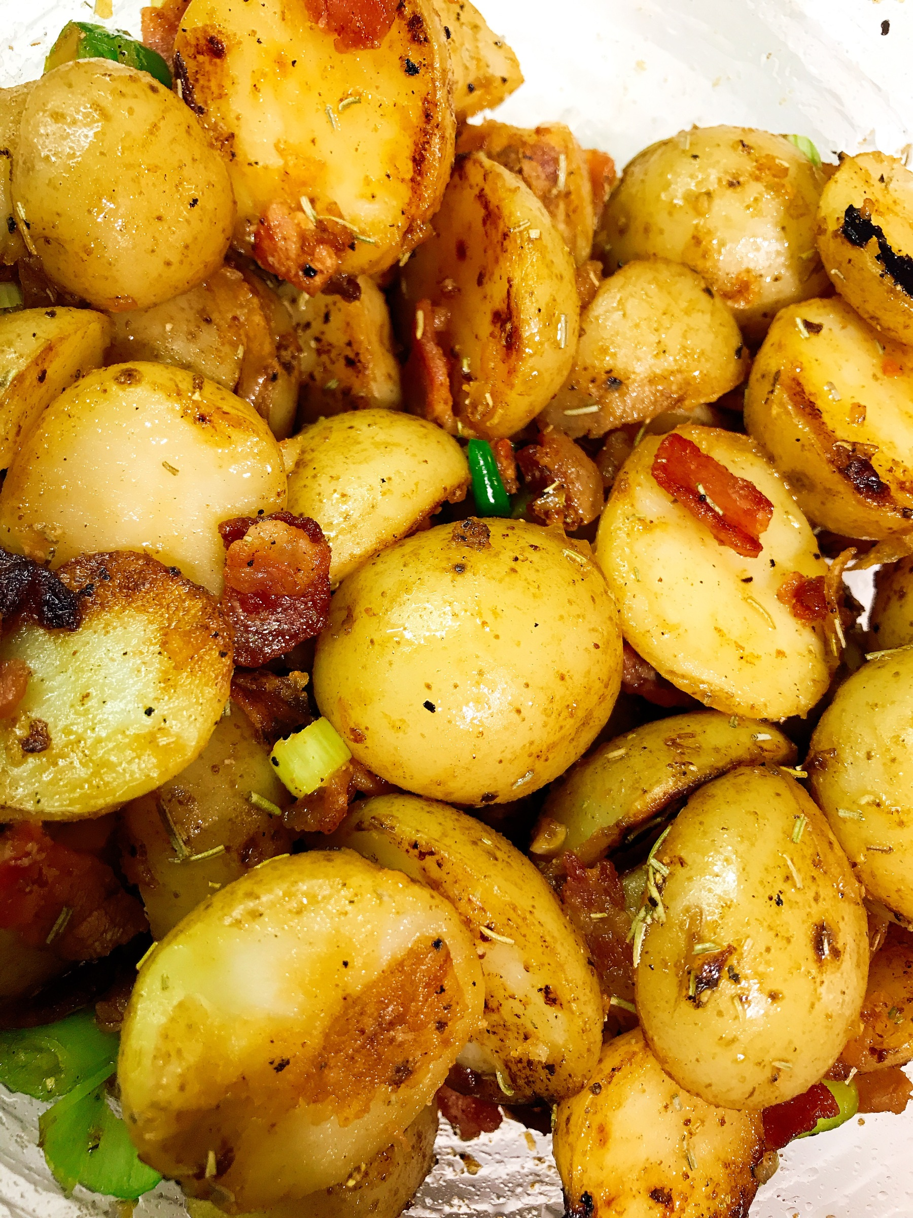 Potato and Candied Bacon salad