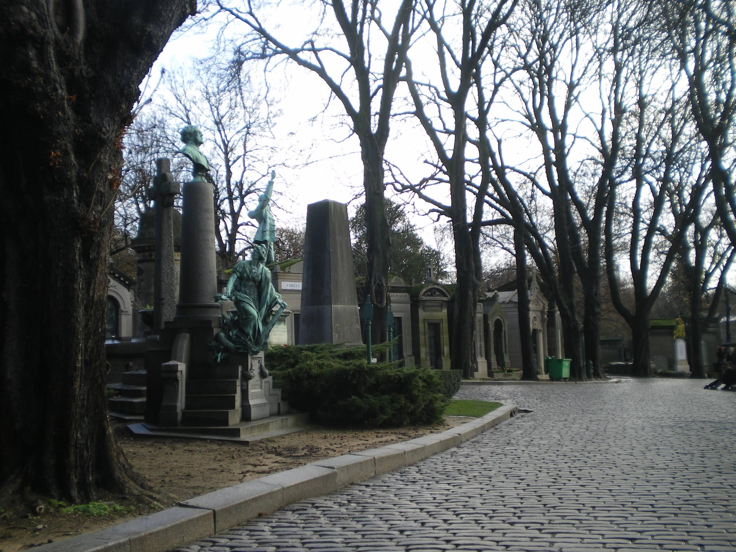 Le Pere Lachaise Cemetery in Paris