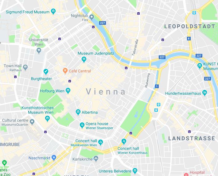 Vienna on Google Maps