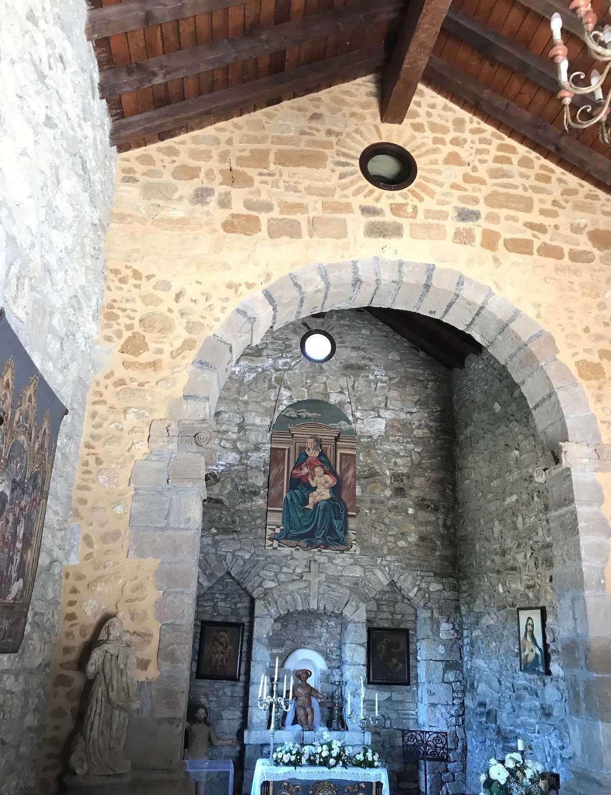 Castello Chiaramonte hosts the Church of St Lorenzo