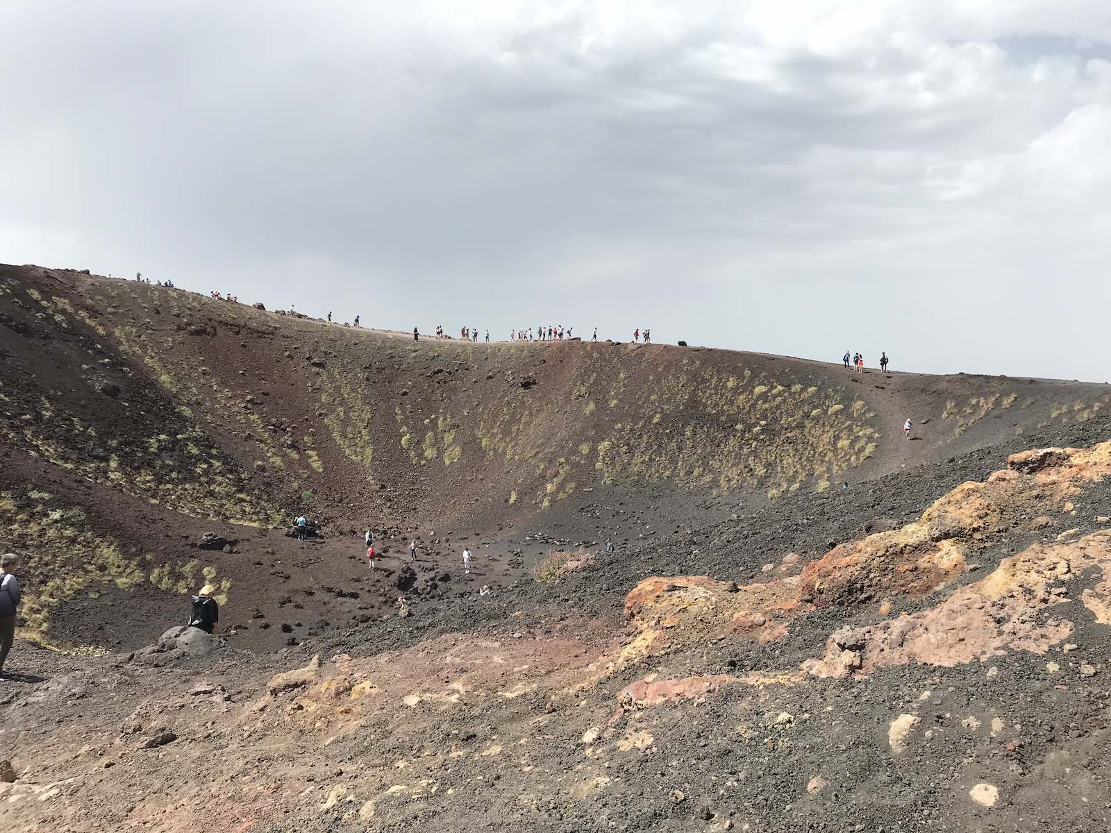 Exploring the lower crater at Silvestri