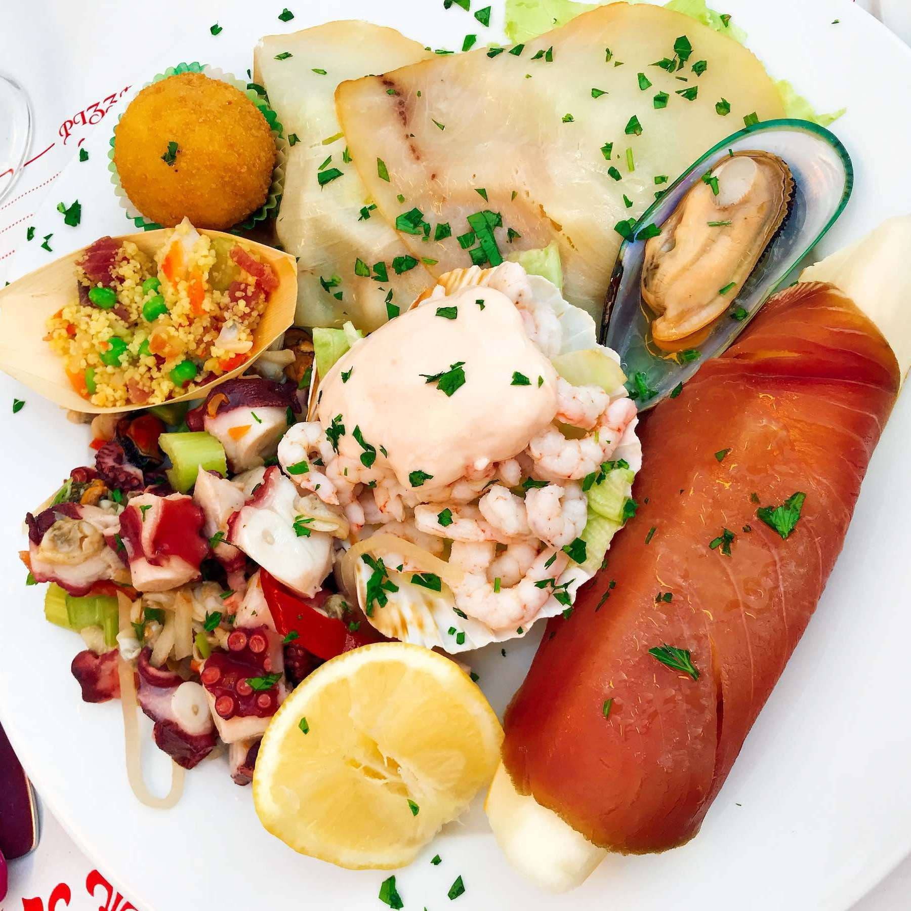 A selection of seafood