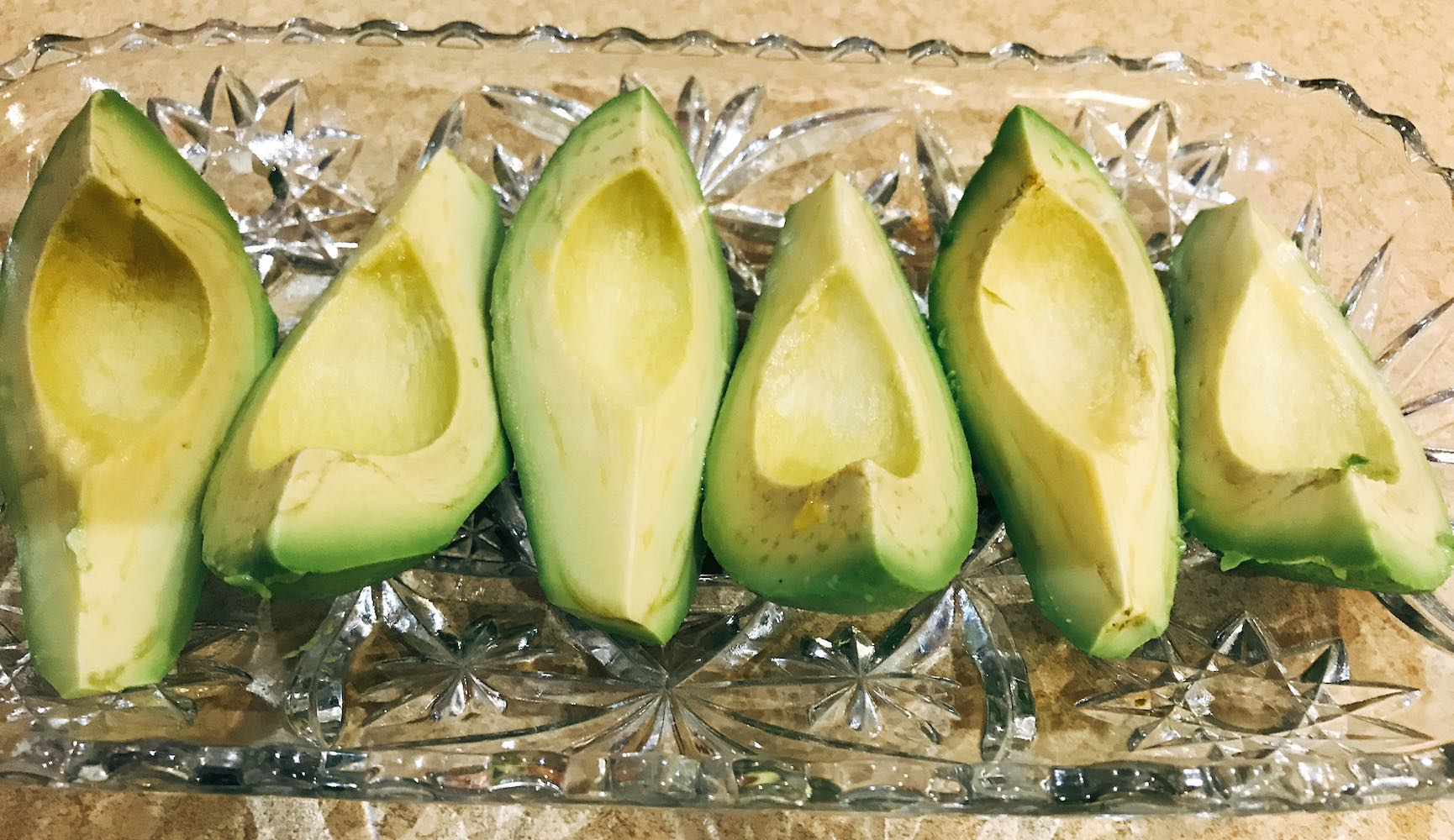 Sliced avocados from South Africa