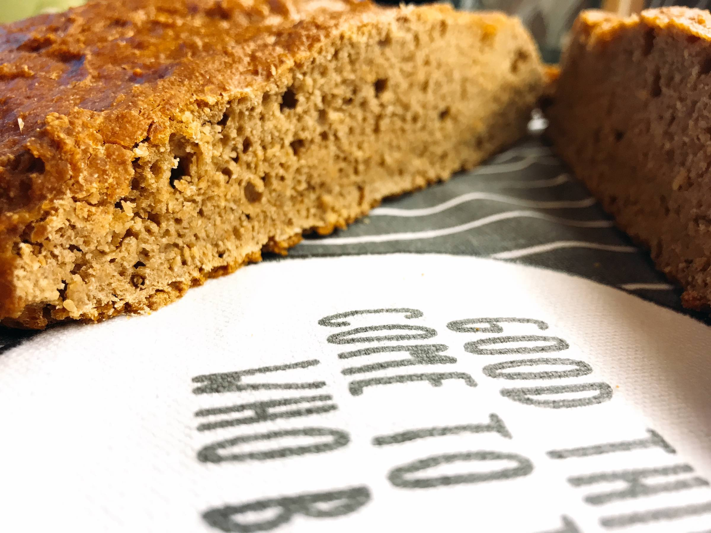 Sliced Einkorn bread