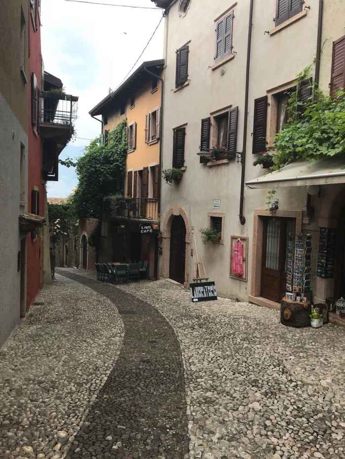 Beautiful street in Malcesine