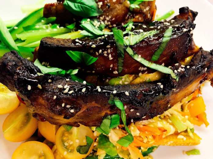 Ribs in a Chinese Five Spice with an Asian Noodle Slaw