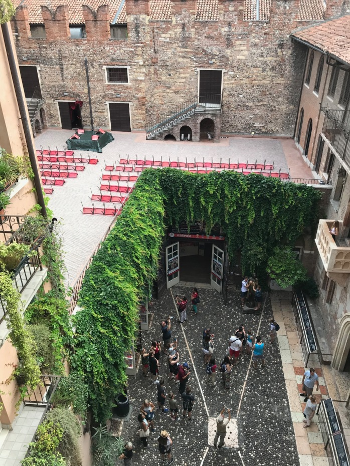 View of the square from Juliet's balcony