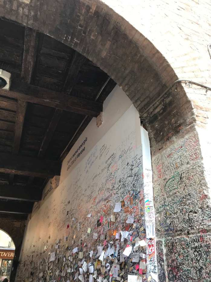 Wall at Casa de Giulett in Verona