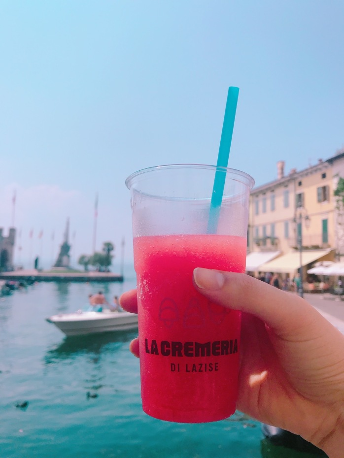 Watermelon granita in Lazise