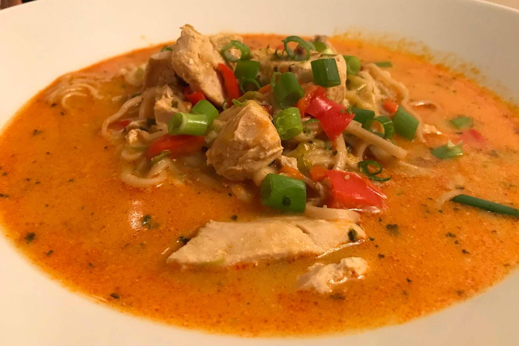 Chicken and Noodle Laksa soup