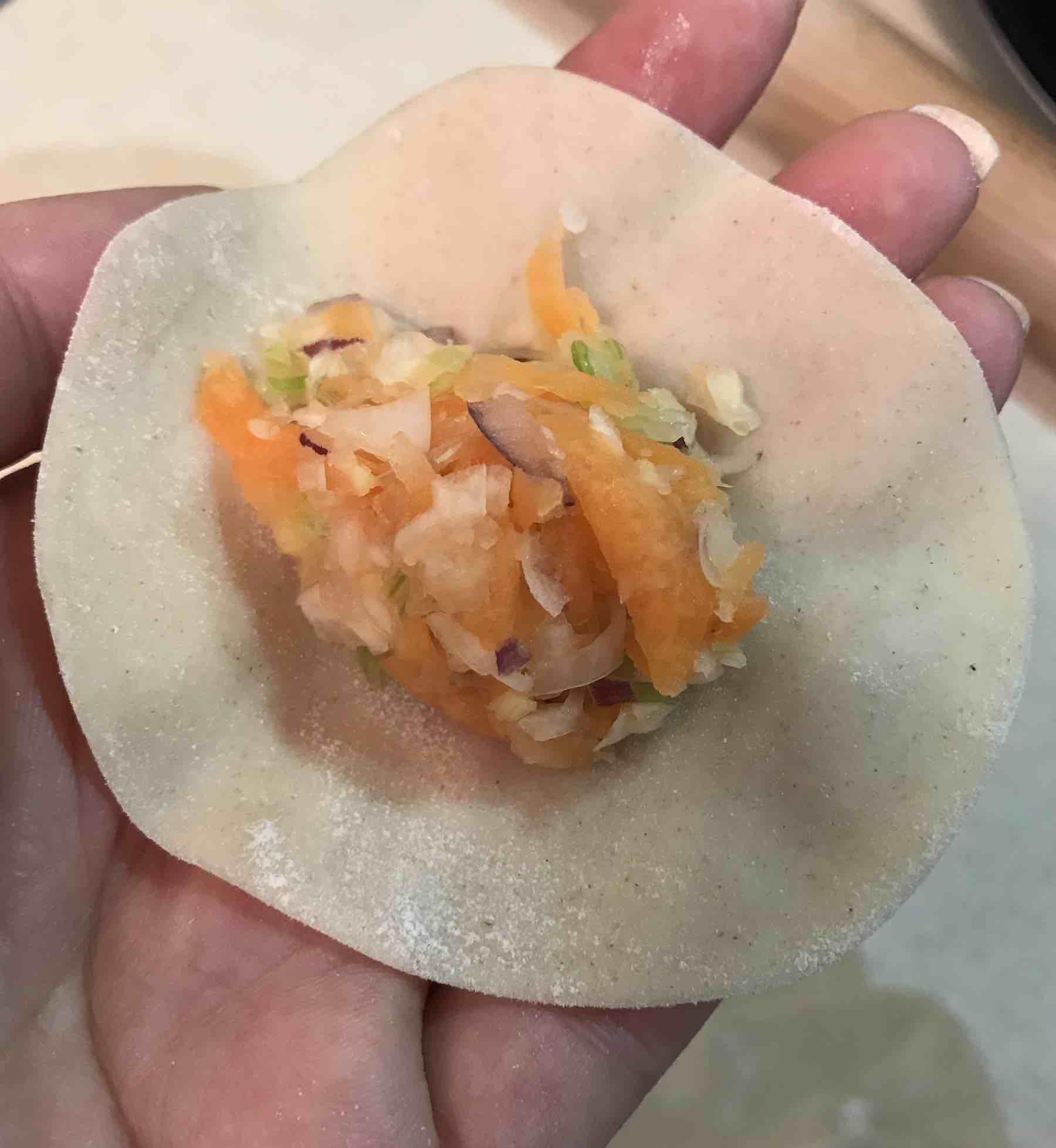 Vegetable filling for Japanese Gyoza