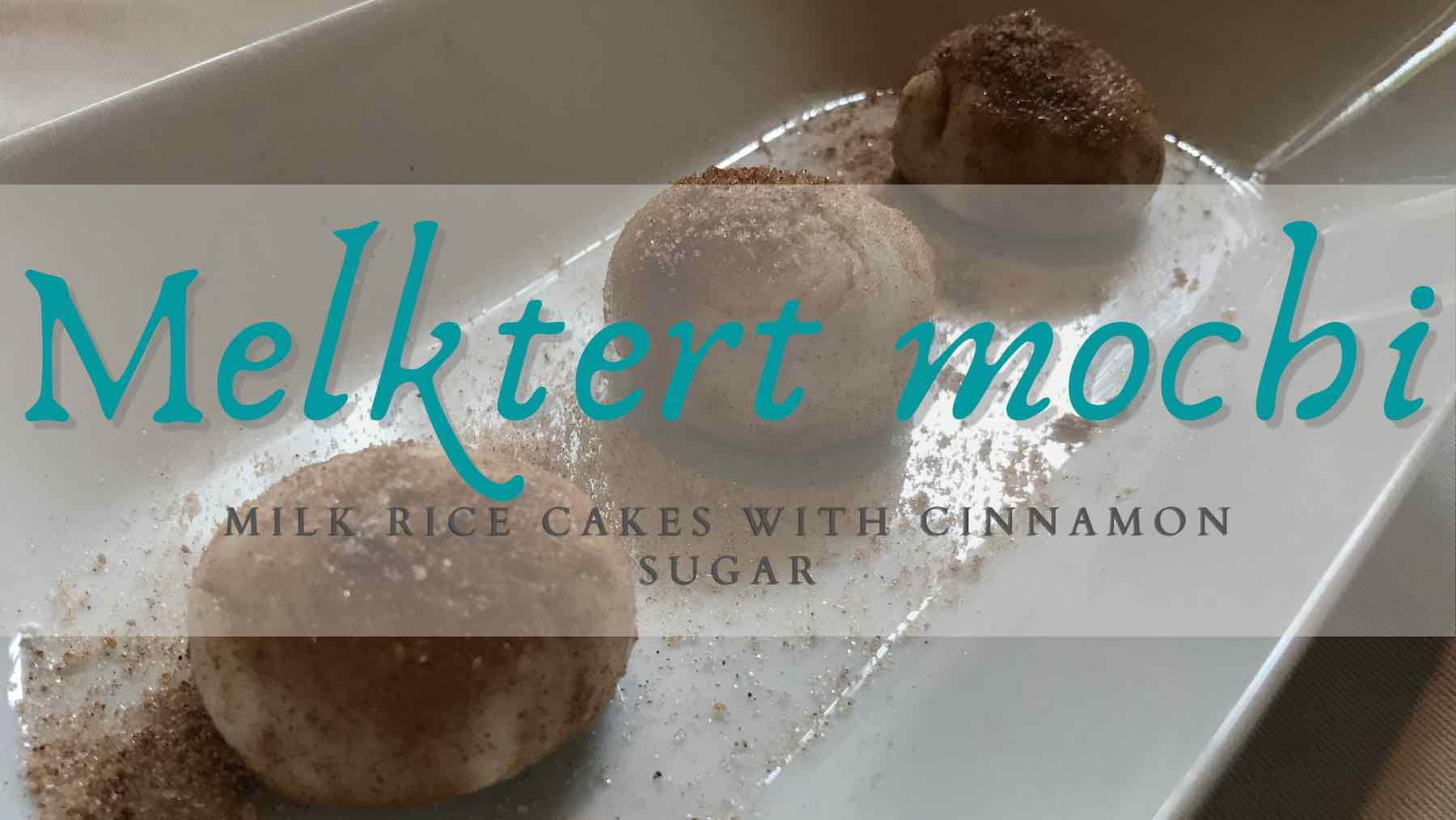 Milk based Japanese rice cake with cinnamon